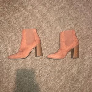 Forever 21 pink booties
